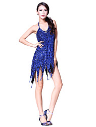 Performance Dancewear Crystal with Sequins Latin Dance Dress For Ladies More Colors