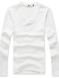 Men's Long Sleeve T-Shirt Casual Pure