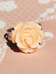 Pink Rose Alloy Sweet Lolita Ring