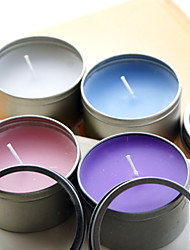 Classic Candle With Round Tin Holder (More Colors)