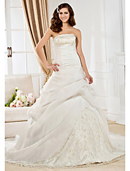 Lanting Bride® Ball Gown Rectangle / Misses / Plus Sizes / Hourglass / Pear / Petite / Apple / Inverted Triangle Wedding Dress - Classic