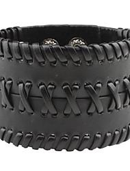Z&x® мужская широкий поворот тканые кожаный браслет