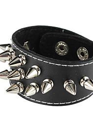 Retro Punk Style Rhombus Rivet Design Bracelet