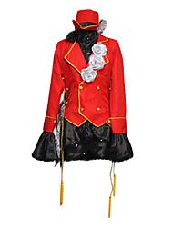 Ciel Phantomhive rouge costume de cosplay