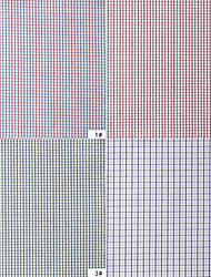 100% Cotton Woven Yarn-Dyed Plain Plaids By The Yard (Many Colors)