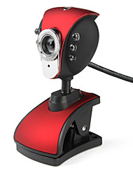 Pheonix 6-LED 5,0 Megapixels USB 2.0 Microfone Clip-on câmera webcam com PC