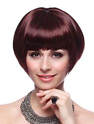 Capless hochwertige synthetische Short Bob Wine Red Hair Perücken