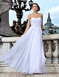 Lanting Bride Sheath/Column Petite / Plus Sizes Wedding Dress-Floor-length Sweetheart Chiffon