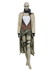 Inspired by Resident Evil Alice Video Game Cosplay Costumes Cosplay Suits Solid Brown Long SleeveCoat / Vest / Blouse / Shorts / Scarf /