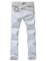 moda maschile skinny pants in tinta unita