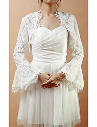 Wedding / Party/Evening Lace Coats/Jackets Long Sleeve Wedding  Wraps