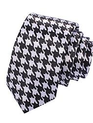 Men's Casual Narrow Houndstooth Necktie(Width:5CM)