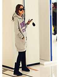 Moda feminina bolso canguru Set Saia Hoodie (Busto: 99, Comprimento: 78)