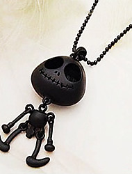 Women's Statement Necklaces Silver Skull / Skeleton Black Silver Jewelry Halloween