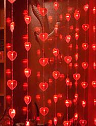 1.6Mx2M Red Love Crystal LED String Light avec 120 LED