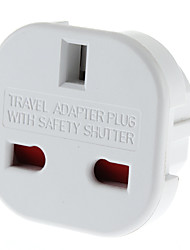 EU Plug to Multiple Plug Universal Round Travel Adapter with Safety Shutter (110-240V)