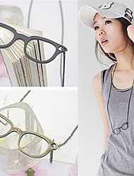 Women's Simple Glasses Vintage Necklace