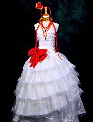 Inspiré par Vocaloid Megurine Luka Vidéo Jeu Costumes Cosplay Costumes Cosplay Mosaïque Blanc Top