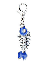 Dog tags Lovely Fish Bone Style Collar Charm for Dogs Cats (Random Color)
