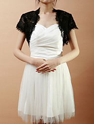 Wedding / Party/Evening Lace Coats/Jackets Short Sleeve Wedding  Wraps