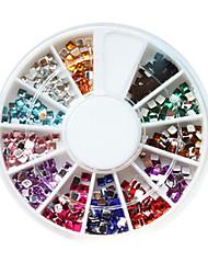 12-Color Plastic Twinkle plein Nail Art Decorations