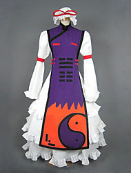 Inspired by TouHou Project Yukari Yakumo Video Game Cosplay Costumes Cosplay Suits / Dresses Patchwork Purple Long SleeveVest / Hat /