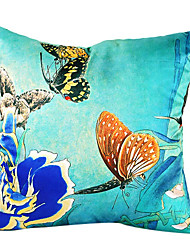 Butterfly Talk Silk Decorative Pillow Cover