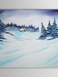 Christmas Painting Snowing Winter Holiday Gift Oil Painting on Canvas Ready to Hang