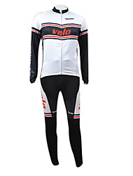 KOOPLUS Men's Cycling Suits Long Sleeve Bike Autumn / Winter Breathable / Quick Dry / Front Zipper WhiteS / M / L / XL / XXL / XXXL / XS