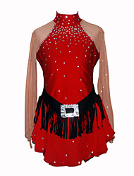 Girl's Figure Skating Dress (Red)