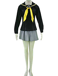 Inspired by Cosplay Rise Kujikawa Video Game Cosplay Costumes Cosplay Suits / School Uniforms Color Block Black Long SleeveBlouse / Skirt