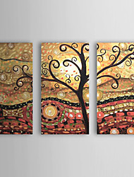 handbemalte abstrakte Ölgemälde mit gestreckten Rahmen - 3-er Set