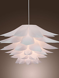 60W Floral Pendant Light in Petal Featured Shade