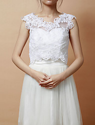 Wedding  Wraps Vests Sleeveless Lace White Party/Evening Open Front