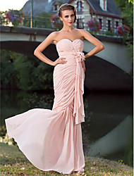 Formal Evening/Prom/Military Ball Dress - Pearl Pink Plus Sizes Trumpet/Mermaid Sweetheart/Strapless Floor-length Chiffon