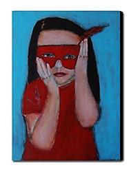 Pintado a mano de pintura de aceite personas Superhero 1211-PE0031