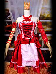 Inspiré par Vocaloid Hagane Miku Vidéo Jeu Costumes Cosplay Costumes Cosplay Mosaïque Rouge Top