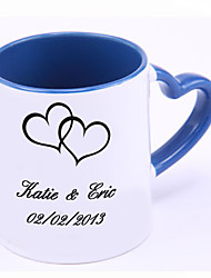 Personalized Charming Mug with Hearted Handle