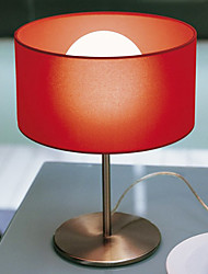 60W E27 Classic Style Table Lamp with Red Shade