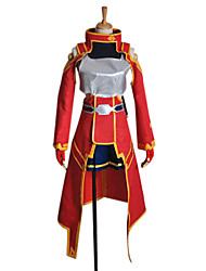 Inspired by Sword Art Online Silica Anime Cosplay Costumes Cosplay Suits Patchwork Red Long SleeveCoat / Top / Dress / Headpiece / Gloves