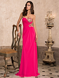 Prom / Formal Evening / Military Ball Dress - Sexy / Open Back Sheath / Column Strapless / Sweetheart Floor-length Chiffon withBeading /