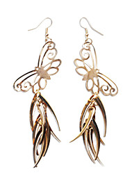 Performance Dancewear Alloy Butterfly Design Belly Dance Drop Earrings for Ladies
