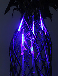 20cm Festival Decoration Blue LED Meteor Rain Lights for Christmas Party (8-Pack, 110-220V)