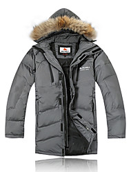Ski Wear Down Jackets / Winter Jacket Men's Winter Wear 100% Polyester / Fleece Winter ClothingWaterproof / Breathable / Thermal / Warm /
