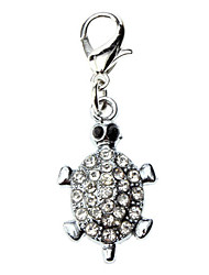 Cat / Dog Tag Rhinestone Silver Metal
