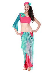 Performance Dancewear Crystal Cotton Belly Dance Outfit For Ladies More Colors