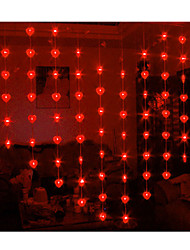 1.6Mx2M Red Love Luce String LED con 78 LED
