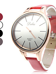 Unisex Einfache elegant Stil PU Analog Quarz-Armbanduhr (verschiedene Farben)