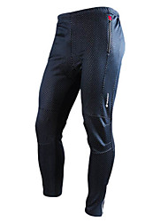 Nuckily Cycling Pants Men's Bike Pants/Trousers/Overtrousers Bottoms Thermal / Warm Wearable Breathable Spandex Polyester Fleece Solid