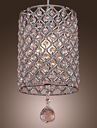 SL® Contemporary Crystal Drop Pendant Light in Cylinder Style